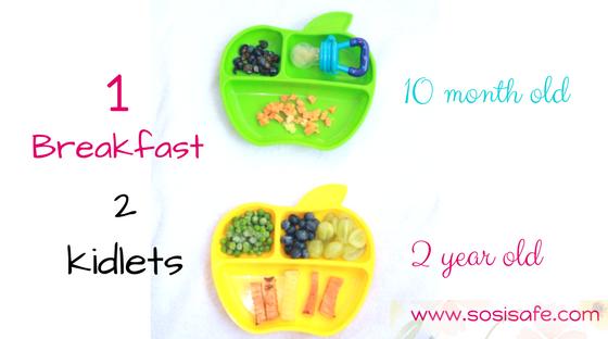 Peanut free, milk free, eat clean toddler breakfasts.